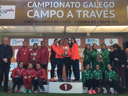 Gran actuación do club de Atletismo de Friol