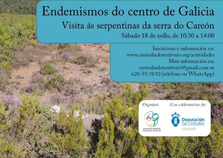 A Asociación de Custodia do Territorio visitará as serpertinas da serra do Careón