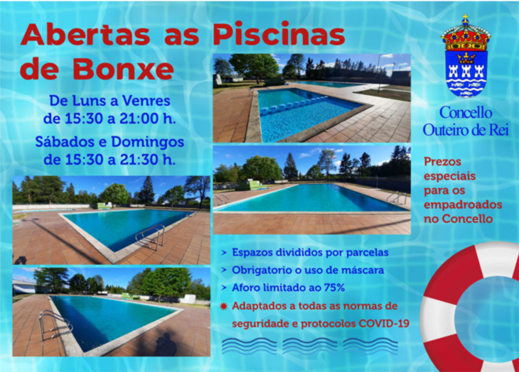 Abren as piscinas de Bonxe